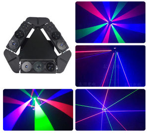 Cina Mini Multicolor Laser Led Spider Beam Bergerak Head Light Air Cooling Dengan Warna Black Shell pemasok