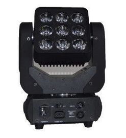 Cina RGBW 4in1 Matrix Led Beam Moving Head Light 3X3 Rotasi Tanpa Batas 9X10W pabrik